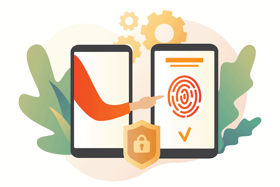 Illustration from number8 white paper on secure data management while outsourcing