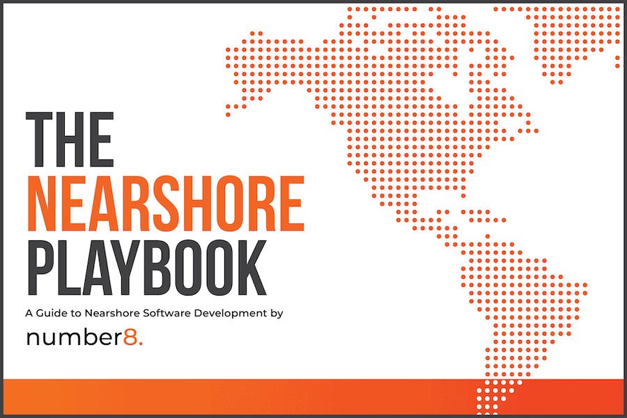 The front cover of The Nearshore Playbook from number8